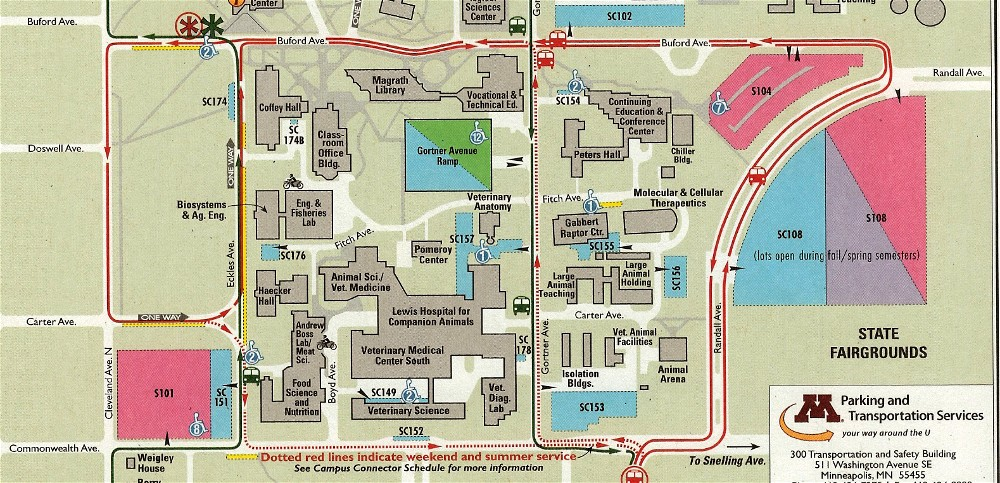 U Of Mn St Paul Campus Map.Directions To St Paul Student Center